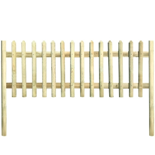 Wooden fence with pine poles impregnated 5.1 m 150 cm 5 / 7cm