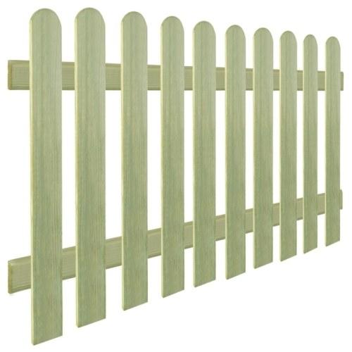 Clôture en bois de pin imprégné 170x100 cm 6/9 cm