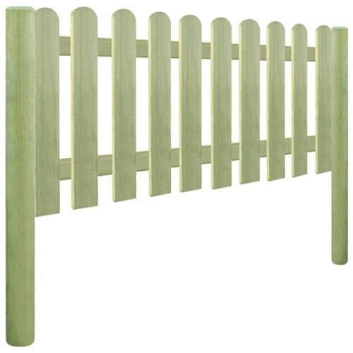 Wooden fence with pine poles impregnated 5,1m 130cm 6 / 9cm