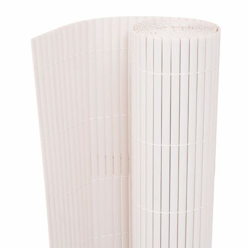 ?Double-sided garden fence 195x500 cm white