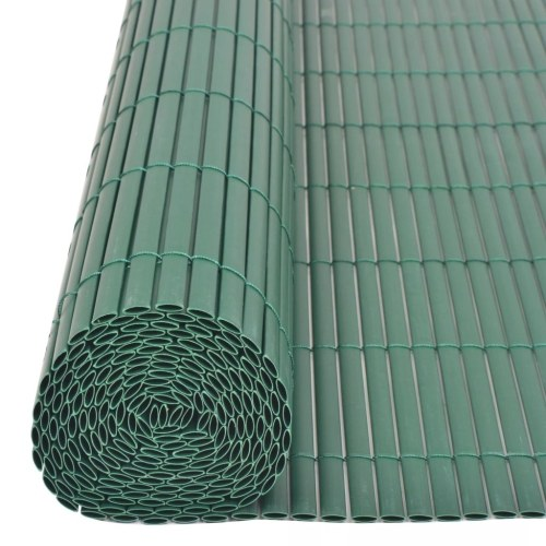 ?Double-sided garden fence 195x500 cm green