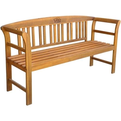 "Garden Bench 61.8"" Solid Acacia Wood"