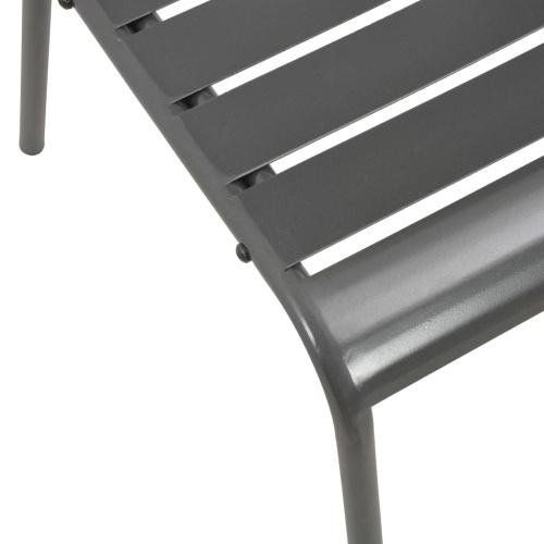 Штабелируемые уличные стулья 2 стальных серых