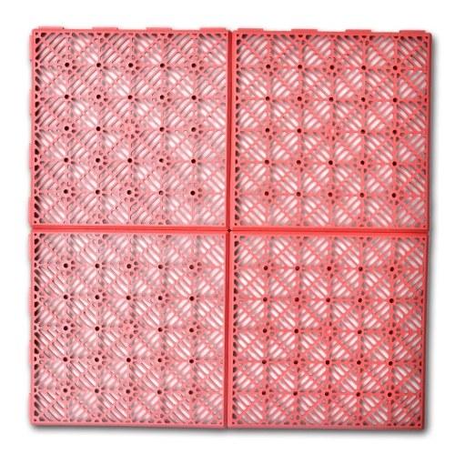 Set 24 pezzi Piastrelle plastica pavimento giardino 29 x 29 cm