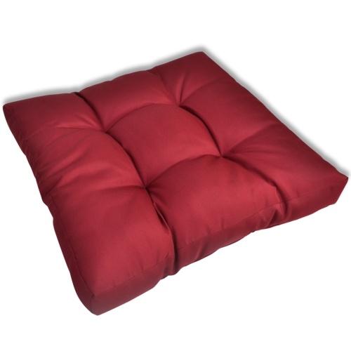 Cuscino imbottito 60 x 60 x 10 cm colore rosso di vino