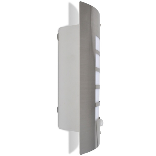a stainless steel wall lamp with motion sensor