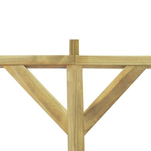 Struttura pergolato in legno 2 x 5 x 2,2 m