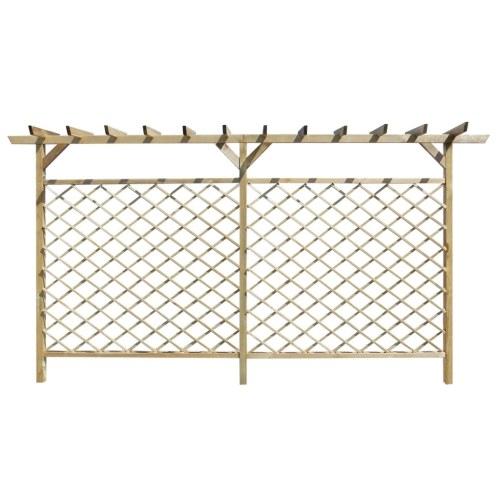 Recinzione di lattice con pergolato per giardino
