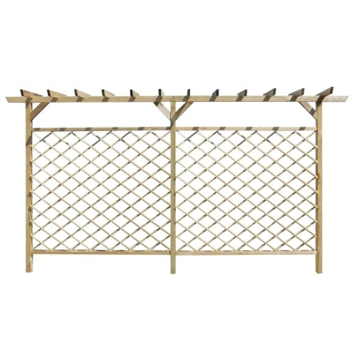 lattice fence with pergola, garden