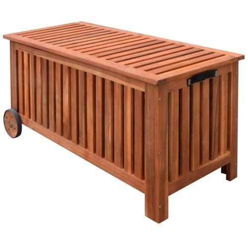 Box per cuscini in legno di acacia 118x52x58 cm