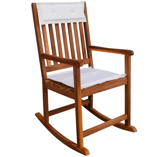 rocking chair made of acacia wood garden