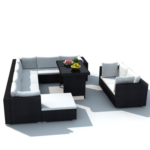 september 28 pcs outdoor furniture outdoor furniture in black polirattan