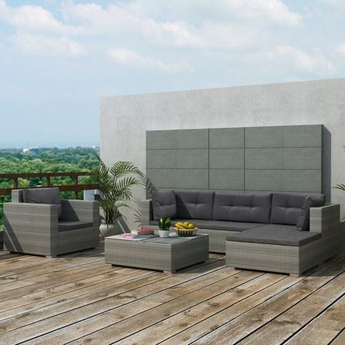 september 17 pcs garden sofa in gray polirattan
