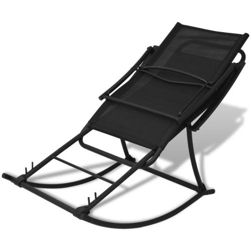 Черный качающийся стул