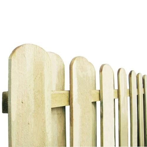 Pannello Recinzione in Legno di Pino Impregnato 180x180 cm