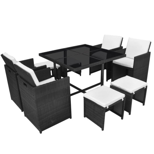 21x Набор для наружного стола и стула Polirattan