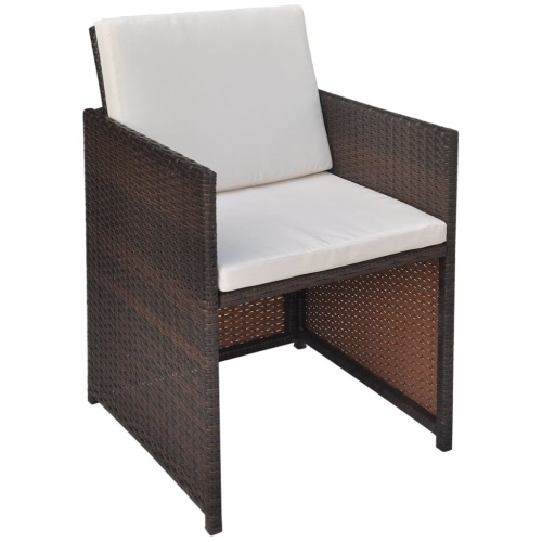 27x Набор для наружных столов и стульев Polirattan Brown