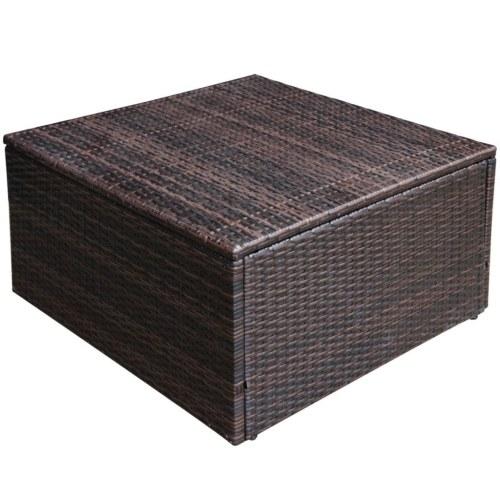 set of garden sofas 27 pcs in brown modular polirattan