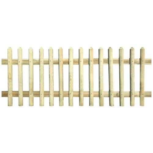 Clôture en bois de pin imprégné 170x100 cm 5/7 cm