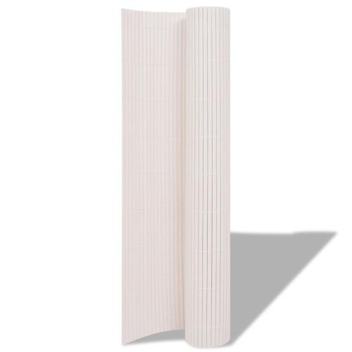 150x500 cm Double Garden Fencing White
