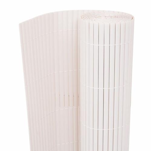 195x500 cm Double Garden Fence White