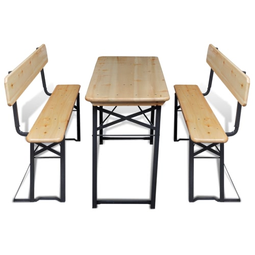 Pliable 2 chaises Beer Garden Table Set