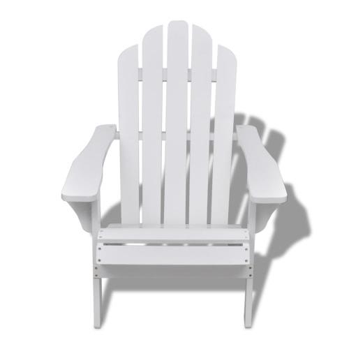 Chaise en bois Salon Chaise de jardin en blanc