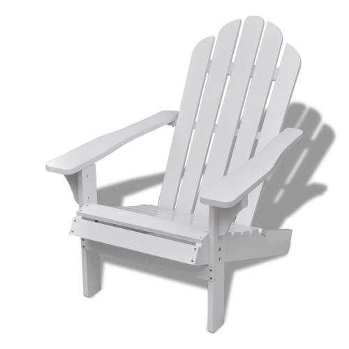 Wood Chair Living Room Garden Chair White