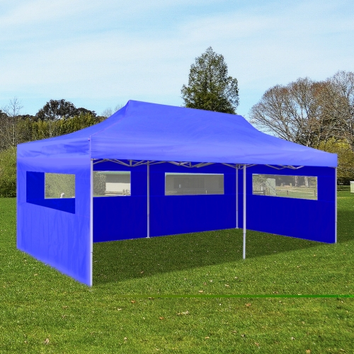 Faltbare Pop-up-Party-Zelt 3 x 6 m blau