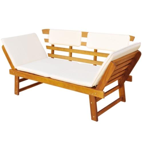 Outdoor sun deck / garden bench Acacia wood
