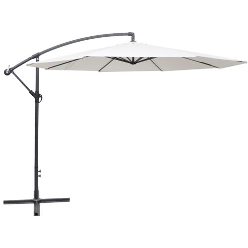 Paraguas cantilever 3.5 m Sand White