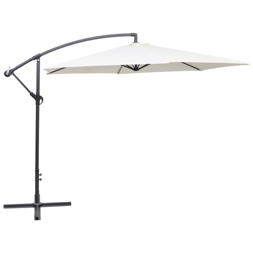 Cantilever Umbrella 3 m Sand White