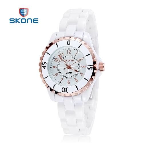 CHICA mujeres vestido de relojes para mujer reloj con correa de cerámica blanco Casual de cuarzo reloj de pulsera