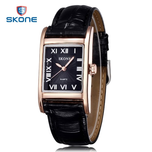 SKONE Frauen Leder Band Quarz Uhren Mode Casual Watch Rechteck Zifferblatt Armbanduhren