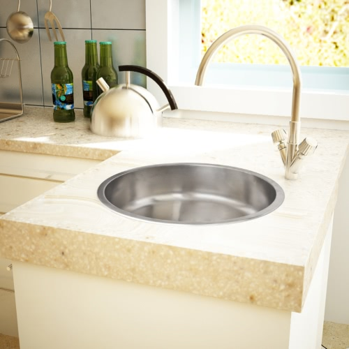 Кухонная раковина Круглая раковина раковина врезке раковины из нержавеющей стали