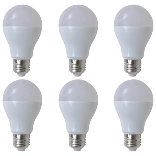 Warm White LED Lamp Bulb 6 pcs 7 W E27