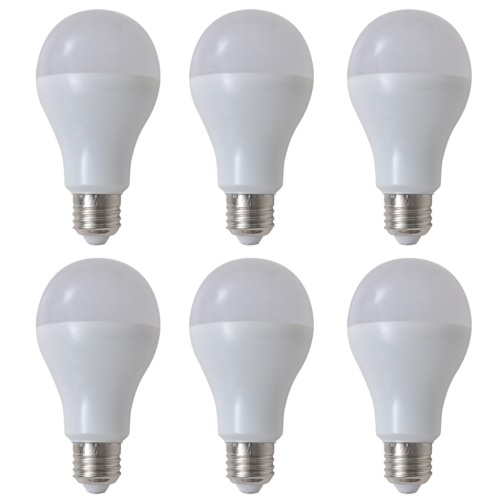 Warm White LED Lamp Bulb 6 pcs 12 W E27