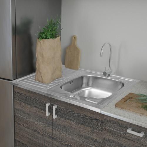 Küchenspülbecken mit Abfluss 80x60 cm