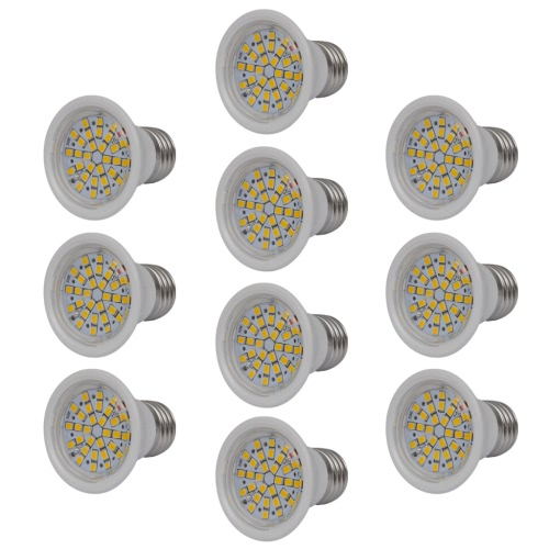 Spotlight Set 10 LED Bulbs White 3W E27 Warm White