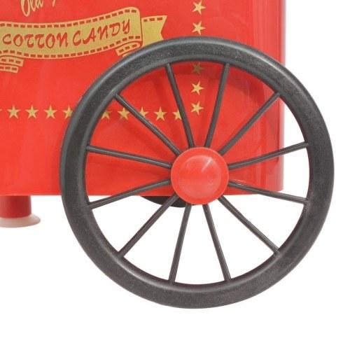 Macchina per zucchero filato con ruote 480 W rossa
