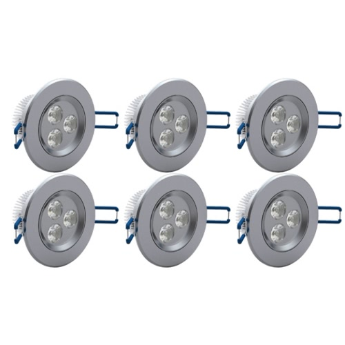 LED Spotlights 9 cm 3W 6 pcs