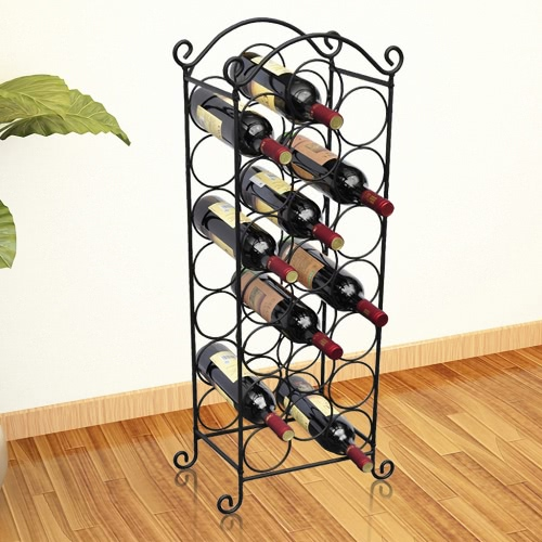 Metal Wine Rack for 21 Bottles Replaces