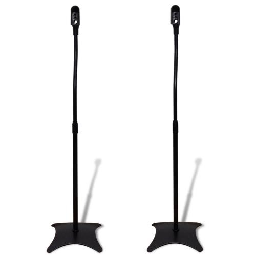 Universal Speaker soporte negro 2 pcs