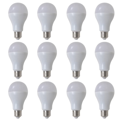 Warm White Lamp Bulb 12 pcs 7 W E27 LED