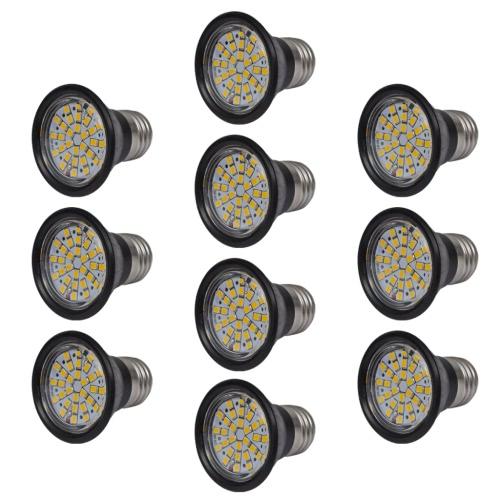 Прожектор Set 10 Светодиодные лампы черный 3W E27 теплый белый