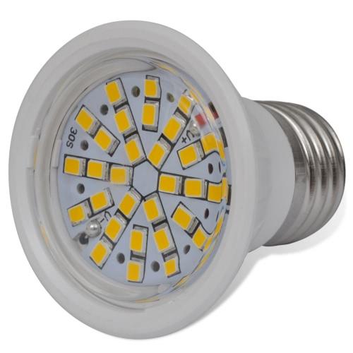 Spotlight Set 10 LED Bulbs White 3W E27 Warm White