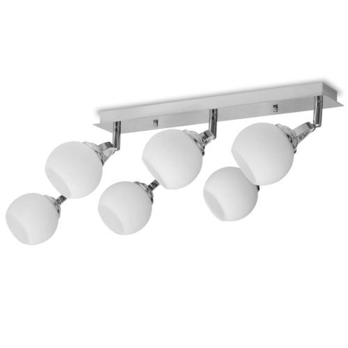 Deckenleuchter mit 6 LED Birnen G9 240 W