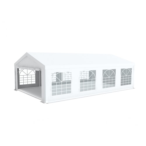 Chapiteau barnum de réception 5x8m PVC 500g/m² tubes 50mm Blanc