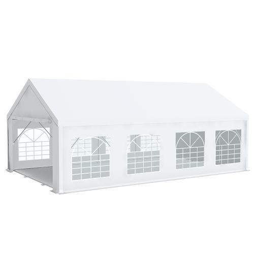 Tente de réception Pro 5x8m PREMIUM Plus PVC 520g/m² tubes 76mm haut. 2m20
