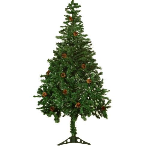 árbol de Navidad artificial de 150 cm con piñas